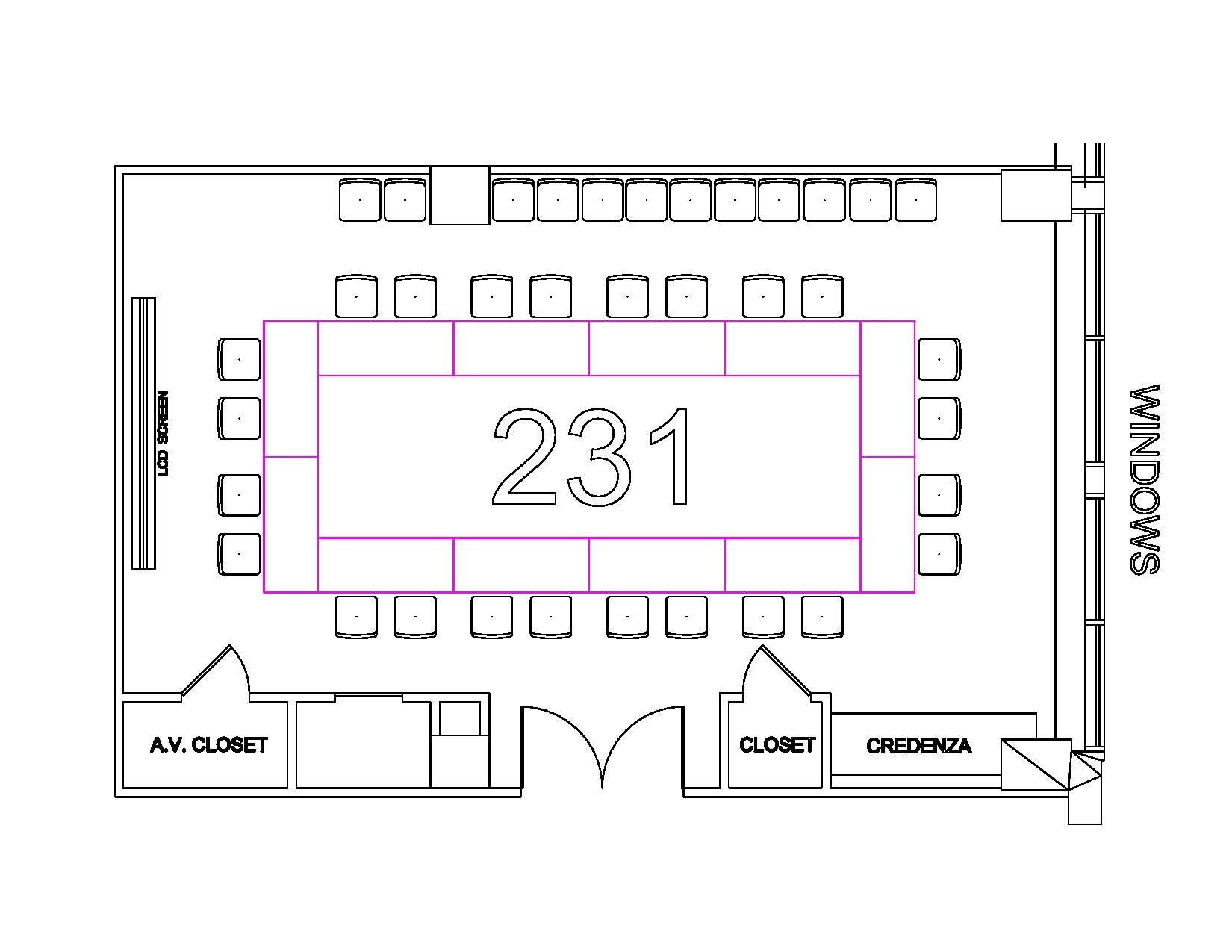 Room 231 Floor Plan