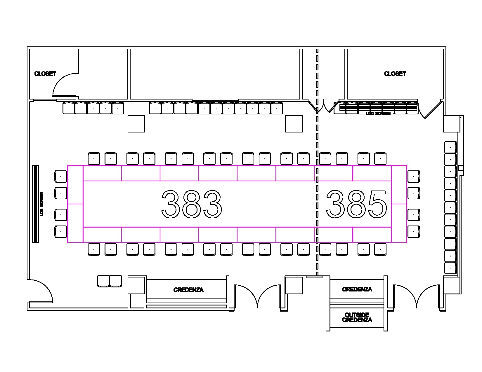 Rooms 383 385 floorplan